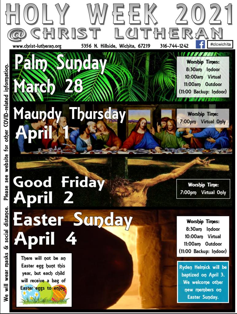 Holy Week Flyer